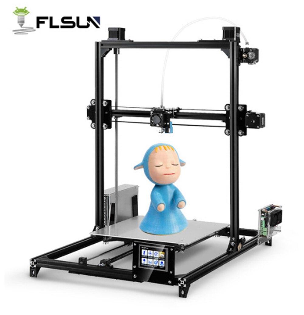 FLSUN i3 Plus Écran Tactile Double-extrudeuse DIY 3D Imprimante Kit 30x30x42 cm
