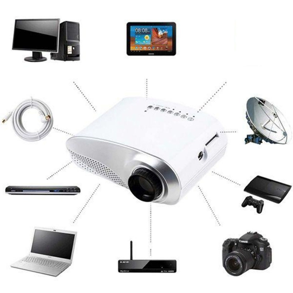 цена Home Mini Cinema Portable 1080P 3D HD LED Projector Multimedia Home Theater USB VGA HDMI TV Home Theatre System