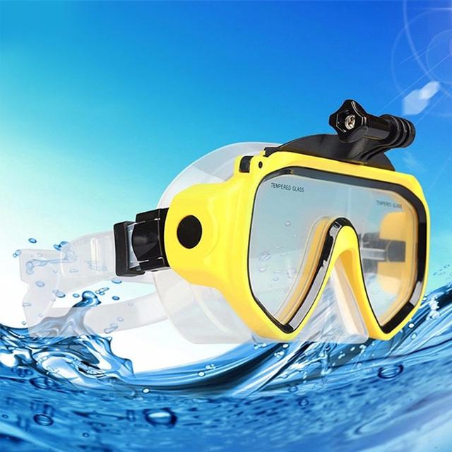 Frete grátis!! óculos de mergulho máscara de mergulho acessórios de montagem para gopro hero 4 3 2, sj4000 sj5000 + wifi, xiaomi yi action camera