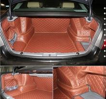 High quality! Special trunk mats for BMW 730LD 740LD 750Li 760Li F02 2015-2010 waterproof cargo liner boot carpets,Free shipping