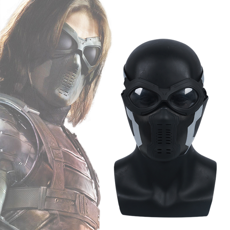 Captain America 3 Winter Soldier Cosplay Mask Glasses Set
