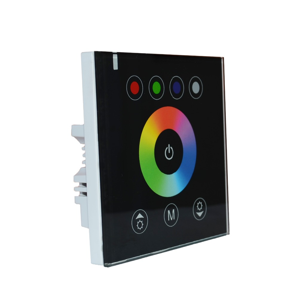 touch panel rgbw controller single color dimmer color temperature adjuster 12 24v 4ch wall. Black Bedroom Furniture Sets. Home Design Ideas