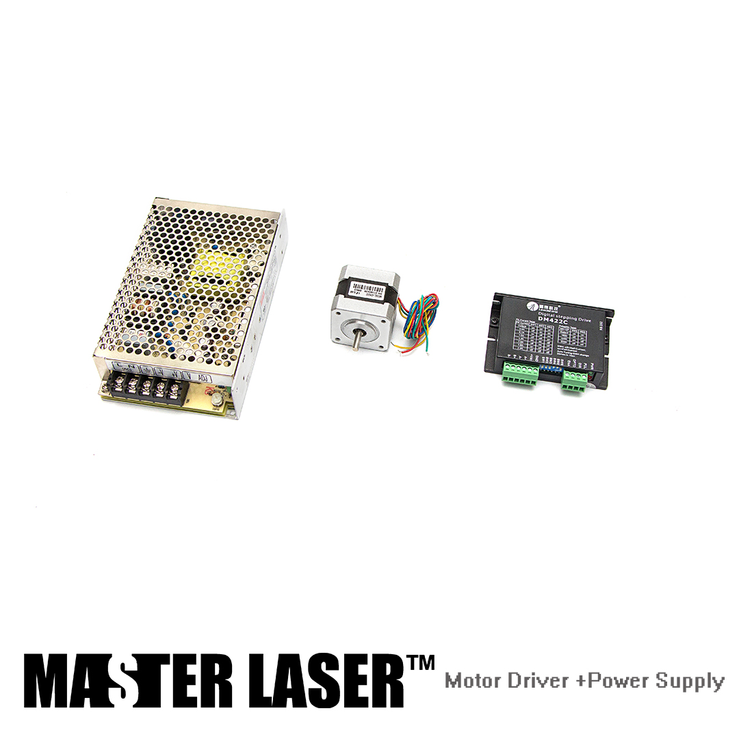 Leadshine Stepping Motor 42HS02 and Motor Driver DM422C for Laser Engraving/Cutting Machine Stepper Motor Power SupplyLeadshine Stepping Motor 42HS02 and Motor Driver DM422C for Laser Engraving/Cutting Machine Stepper Motor Power Supply