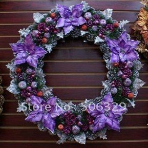 2011 Brand NEW 50cm Christmas wreath, Christmas Tree with beautiful gifts Ornaments and Decoration, More discount.