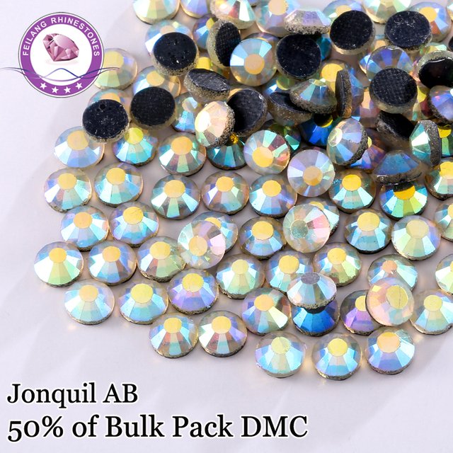 High Quality Jonquil AB DMC Hotfix Rhinestones For Clothing Accessories DIY Decoration Iron On Stones