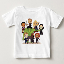 Avengers child boys girls tees tops t shirt for 2-9years baby boy clothes garments children clothing MJ