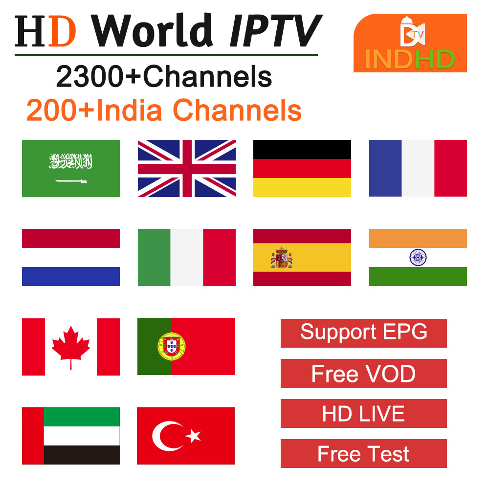 IP TV Somalia Pakistan 1 Year IPTV India Ex Yu Spanish Portugal IPTV For Android Device India Turkish Polish IPTV Subscription-in Set-top Boxes from Consumer Electronics