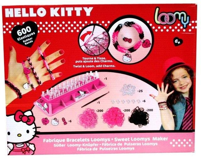 O Kitty Children Weaving Loom Bracelet Maker Kit Education Learning Rubber Band Toy 600 Orted