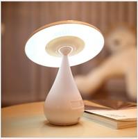 LED Rechargeable Mushroom Lamp Adjustable Brightness Touch Sensor Night Light For Bedroom Study Office Home Lighting USB Power