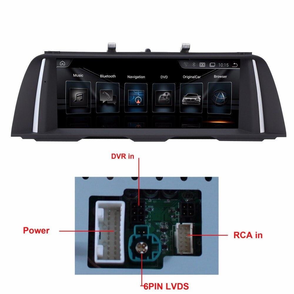 10.25 pouce Lecteur Multimédia De Voiture pour BMW Série 5 F10/F11 2011-2016 GPS Navigation MP5 Bluetooth Wifi