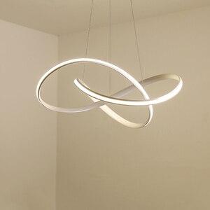 Image 1 - Candelabro led moderno para cocina, comedor, sala de estar, colgante luminaria de suspensión, candelabros de dormitorio blanco y negro, accesorios