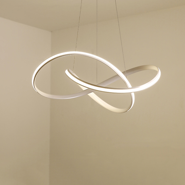 Candelabro led moderno para cocina, comedor, sala de estar, colgante luminaria de suspensión, candelabros de dormitorio blanco y negro, accesorios