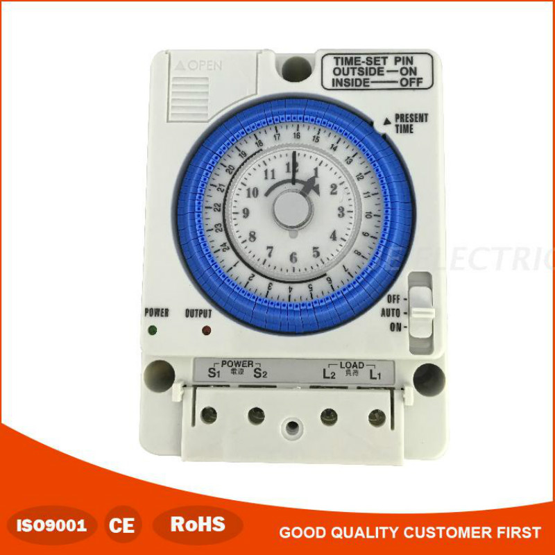 Din Mount 24H 100 to 240VAC 24 Hours Timer Switch Analog Time Control Switch Mechanical Time Controller TB35N SUL181d Din Mount 24H 100 to 240VAC 24 Hours Timer Switch Analog Time Control Switch Mechanical Time Controller TB35N SUL181d