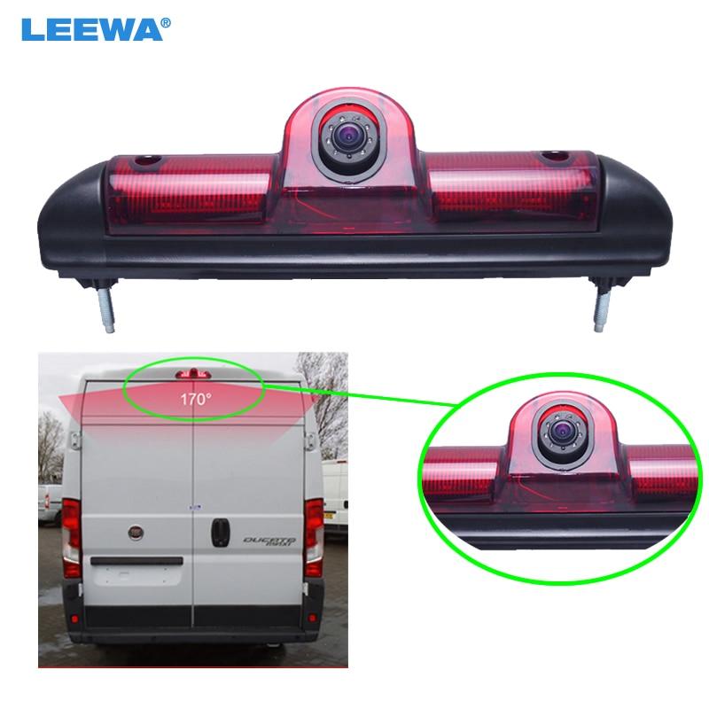 LEEWA Car LED Brake Light IR Rear View Reversing/Parking Camera For Fait Ducato/Peugeot Boxer/Citroen Jumper #CA5369 цена