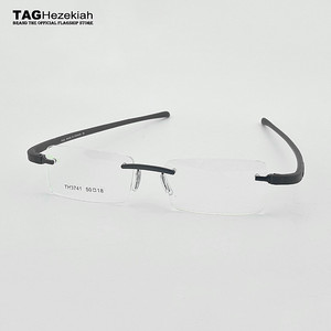 Image 1 - TAG Hezekiah Brand eyeglasses rimless men Women Myopia Optical Glasses Frame oculos de grau lunette de vue lunette de vue femme