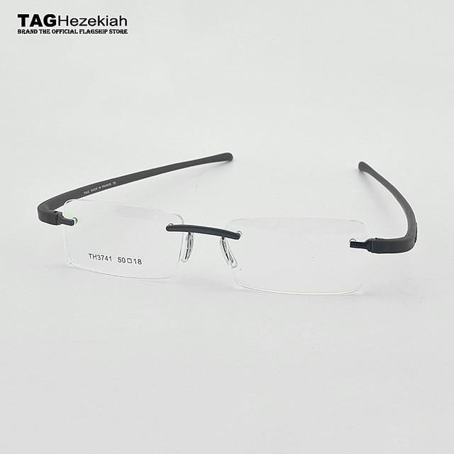 TAG Hezekiah Brand eyeglasses rimless men Women Myopia Optical Glasses Frame oculos de grau lunette de vue lunette de vue femme