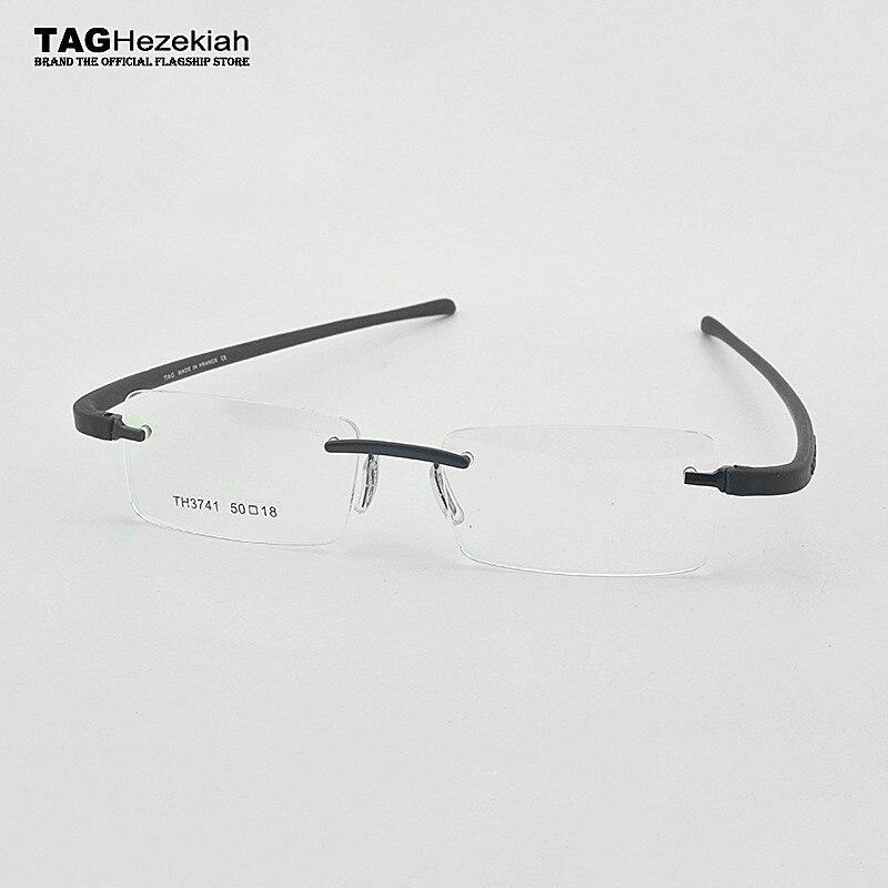 Tag marca óculos de miopia óptica óculos de miopia sem aro moldura de grau lunette de vue femme