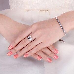 Image 4 - JewelryPalace sznaucer Dog prawdziwa czarna Spinel Ring 925 srebro pierścionki dla kobiet pierścionek do noszenia warstwowego srebra 925 biżuteria
