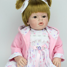Big Size Clothing Model Girls 28 Inches 70 cm Cute Lifelike Girls Silicone Reborn Toddler Dolls Best Toys Gifts For Baby Girl