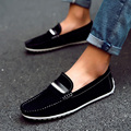 British Style 2016 High Quality Men Shoes Leather Italian Men Loafers Moccasins Suede Slip On Casual Men Flats Shoes