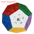 Nova DaYan Megaminx Dodecaedro Magic Cube Dodecaedro Stickerless Cubo Mágico Enigma Brinquedos Educativos Especiais