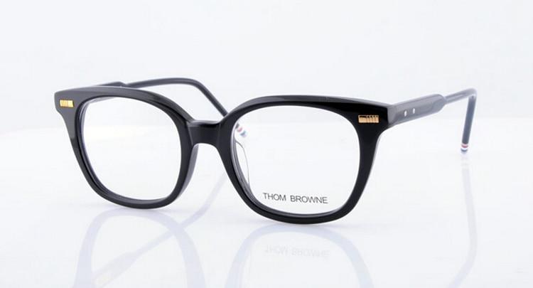 0052538a0bf HOT Sale 2016 THOM BROWNE Eyeglasses Frames glasses New York Brand TB405 Optical  Frame Oculos De Grau original case High quality-in Eyewear Frames from ...