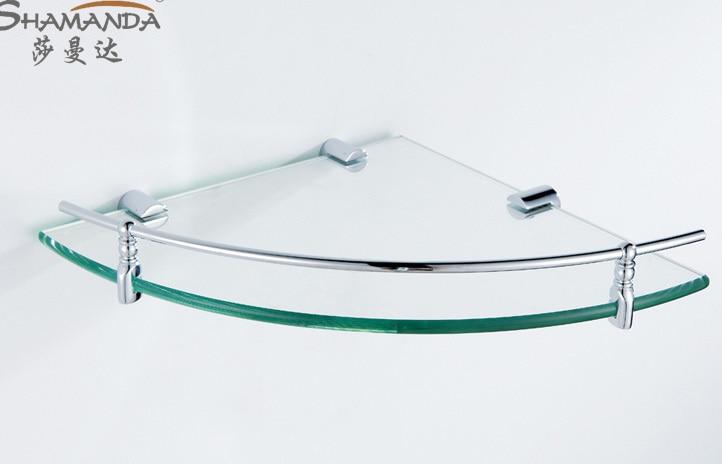 free accessories chrome finish bathroom glass glass