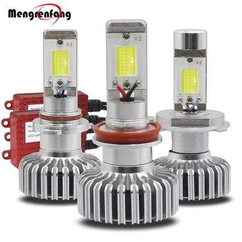 H11 LED faro H4 Hi/Lo 40W 5000LM/Set COB blanco 6000K 12V con la luz del faro del coche del conductor
