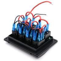 Waterproof Panel Switches 4 Gang Car Auto Boat Marine LED Rocker Switch Panel Circuit Breakers Jul5