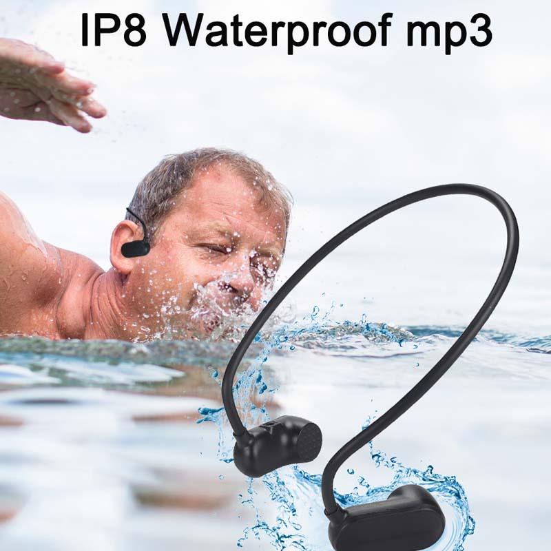 Volemer V30 Bone Conduction HIFI MP3 Player APT X + IP8 Waterproof Swimming Outdoor Sport Earphone with USB MP3 Music Player