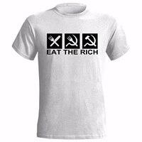 EAT THE RICH LOGO MENS T SHIRT COMMUNIST COMMUNISM ANTI CAPITALIST CAPITALISM 100% Cotton Brand New T Shirts