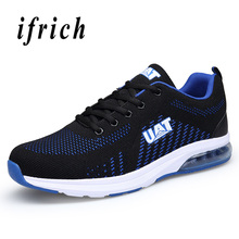 Men Running Sneakers Summer Air Sole Men Sport Shoes Cushioned Sport Brand Sneakers Blue Mesh Running Shoes Men Sneakers цена