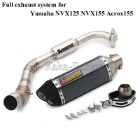 For Yamaha NVX125 NVX155 NVX 155 125 Aerox155 Motorcycle Exhaust Full system Slip on pipe with Akrapovic Exhaust Muffler Escape