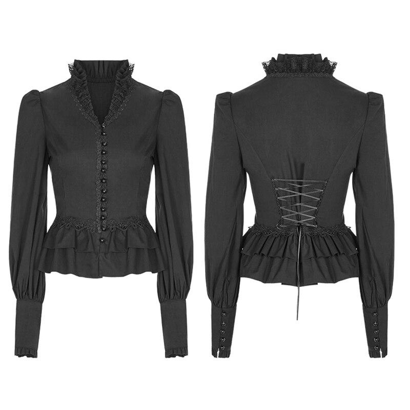 Новое поступление женские кружевные рубашки 2019 Осень Женская открытая рубашка A797 - 6