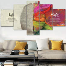 Magical colored brain Modern Art Prints Canvas Wall Art Oil Paintings Pictures Posters for Bedroom livingroom home Decor framed