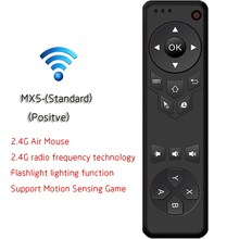 MX5 2.4G Wireless Remote Control Air Mouse Wireless Remote Controller With Receiver Adapter For Smart TV Android TV Box PC