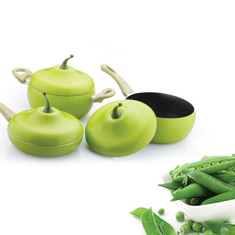 Image 5 - Non stick Fruit Shape Frying Pan For Cooking Pot Color Saucepan  Pan Grill Pan Induction Cooker Gas Aluminum Cookware KitchenwarePans