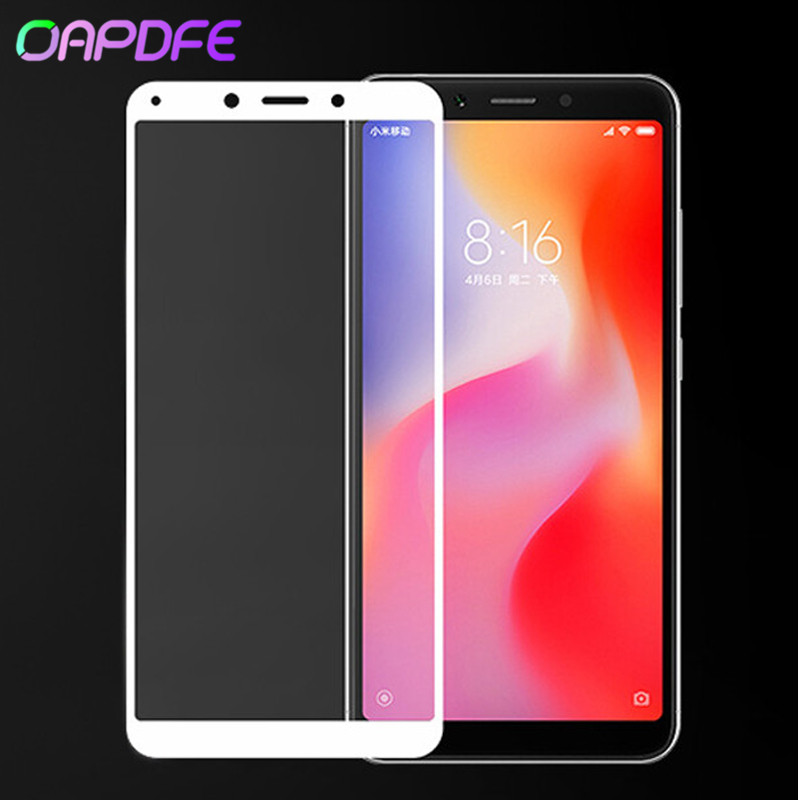 Full cover Tempered Glass For <font><b>Xiaomi</b></font> <font><b>Redmi</b></font> <font><b>6</b></font> redmi6 Screen Protector For <font><b>Redmi</b></font> 6A global Version Redmi6A Protective Glass Film image