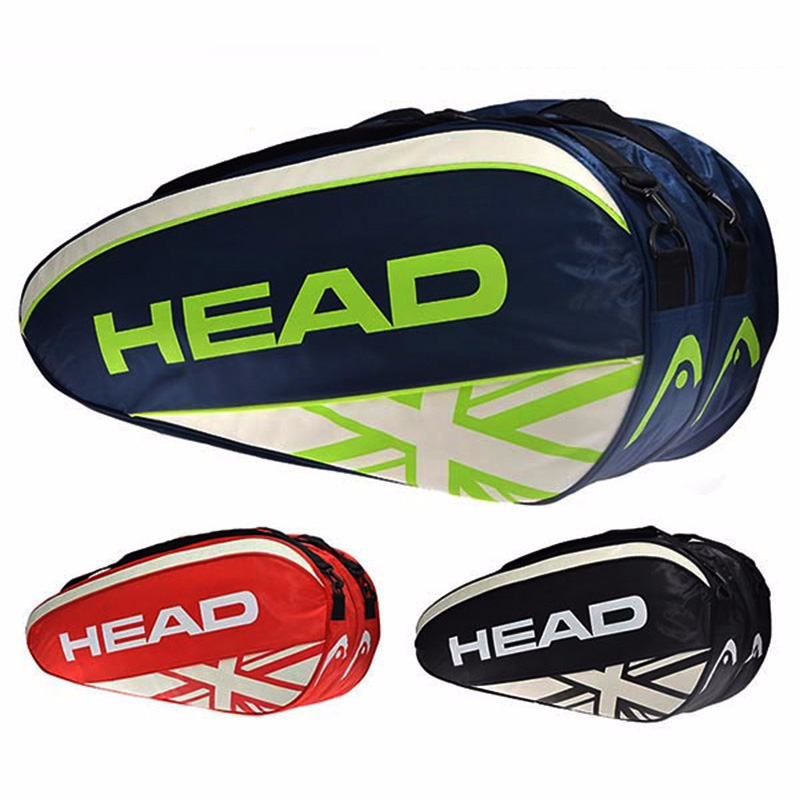 Stylish Tennis Racket Handbag Large Capacity 3-6 Rackets Badminton Squash Men Outdoor Racquet Sports Double Shoulder Bag