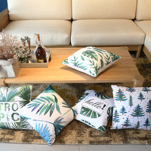 Morigins Tropical Plant Pillows Cover Palm Leaf Pillow Cases Linen Home Decorative Pillowcase Hedroom Throw Pillowscase N6