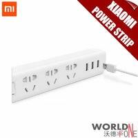 HOT Newest 100 Original Xiaomi Power Strip Outlet Socket 3 USB Extension Socket Plug With Socket