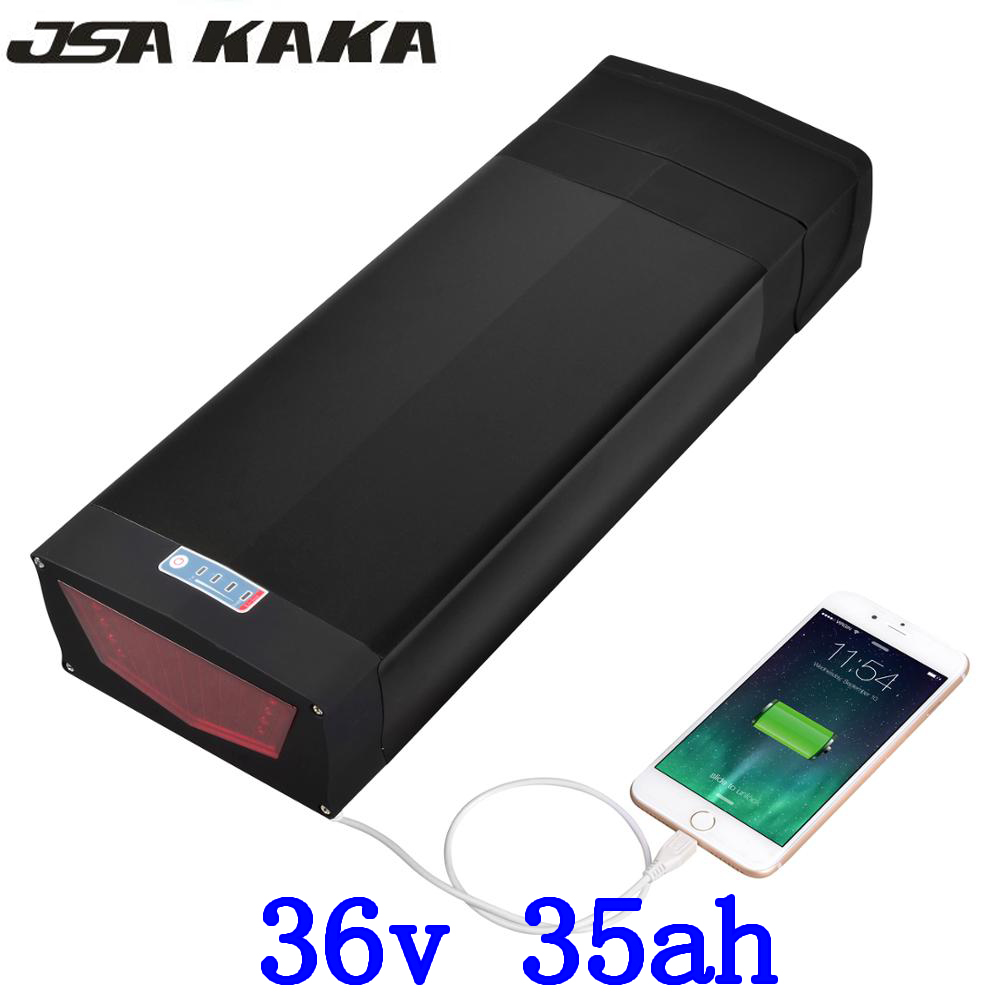 1000W 36V 35AH electric bike battery 36V 35AH Lithium battery 36V 34AH ebike battery use LG cell with 30A BMS and 42V 3A charger