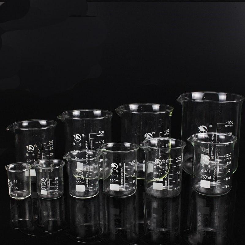 Image 3 - 5ml 3000ml GG 17 Borosilicate Glass Beaker High temperature resistance Beaker Laboratory Equipment Glassware School SuppliesBeaker   -