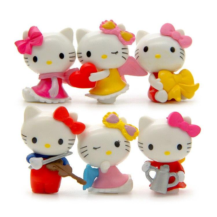 Toys For Hello Kitty : Pcs anime cartoon blink hello kitty figures pvc cut