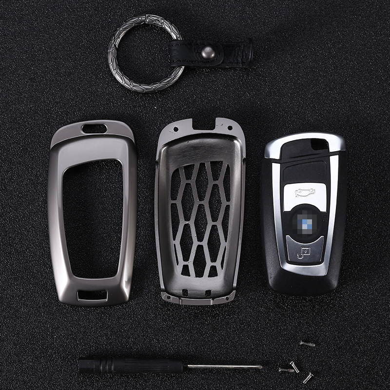 Zinc alloy Key Cover for BMW 5 X1 M1 GT F07 F10 F11 520 525 520I 530D E34 E46 E60 E70 Remote Case Chain Shell Key chain Key bag Key Case for Car     - title=