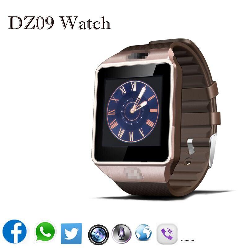 Galleria fotografica Smart Watch DZ09 Bluetooth Smartwatch Soutien SIM Carte Téléphone Caméra GSM/TF Hommes Montre-Bracelet pour IOS Android Téléphone VS U8 GV18 GT08