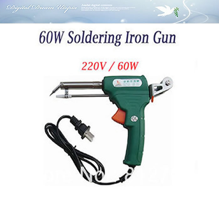 free shipping 60W Automatic Send Solder wire Soldering Iron Gun Welding With stand AC 220V,iron gun hot  цены