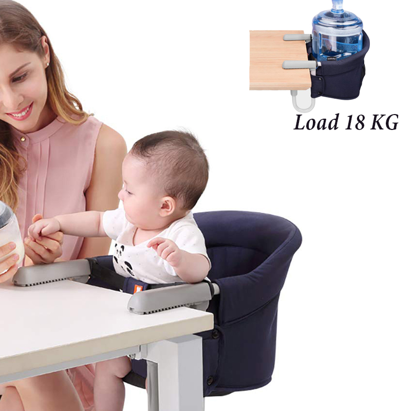 Portable Baby Feeding Highchair Safety Belt Harness Foldable Infant Table Chair Seat Booster Cushion Mat Washable Hook-on Chair
