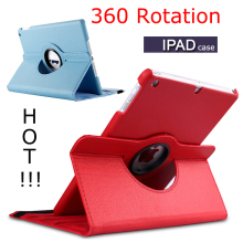 Drop resistance Protective case for Apple ipad 9.7 case A1893 For iPad 2 3 4 Solid protective shell Rotating Leather Case lychee pattern protective swivel rotating pu leather case for ipad 2 the new ipad red