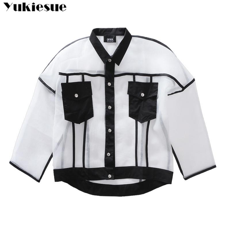 harajuku Transparent jacket coat for women jackets womens outerwear & coats 2018summer autumn sports coat female chaqueta mujer